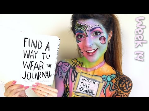 WRECK THIS JOURNAL 14 : BODY PAINT // WEAR THE JOURNAL - SoCraftastic