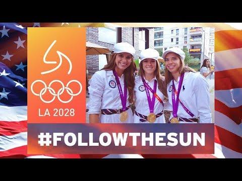 Alex, Kelley & Tobin: Talex & Kellex Pumped to Follow Sun ➡️ LA 2028 Olympics - September 2017