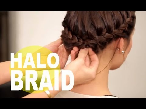 The Perfect Halo Braid for Short Hair