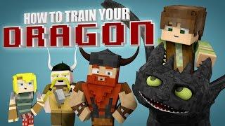 Minecraft Parody - HOW TO TRAIN YOUR DRAGON! - (Minecraft Animation)