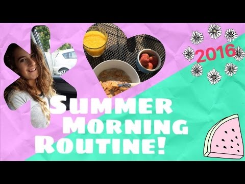 SUMMER MORNING ROUTINE 2016! | India-Lily