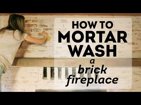 How To Mortar Wash A Brick Fireplace Cottage House Flip