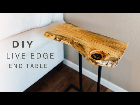 DIY Live Edge End Table