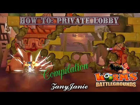 HOW TO SETUP A PRIVATE LOBBY & COMIPLATION (With Friends) - Worms Battlegrounds (PS4)