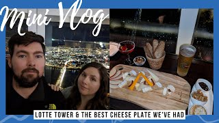 COCKTAILS WITH A VIEW IN LOTTE TOWER ✈ SEOUL | South Korea Travel VLOG Series Mini Episode