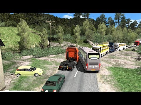🔴 Bus Driver Loses His Mind | Volvo Bus Driving In Heavy Traffic | Euro Truck Simulator 2 Bus Mod