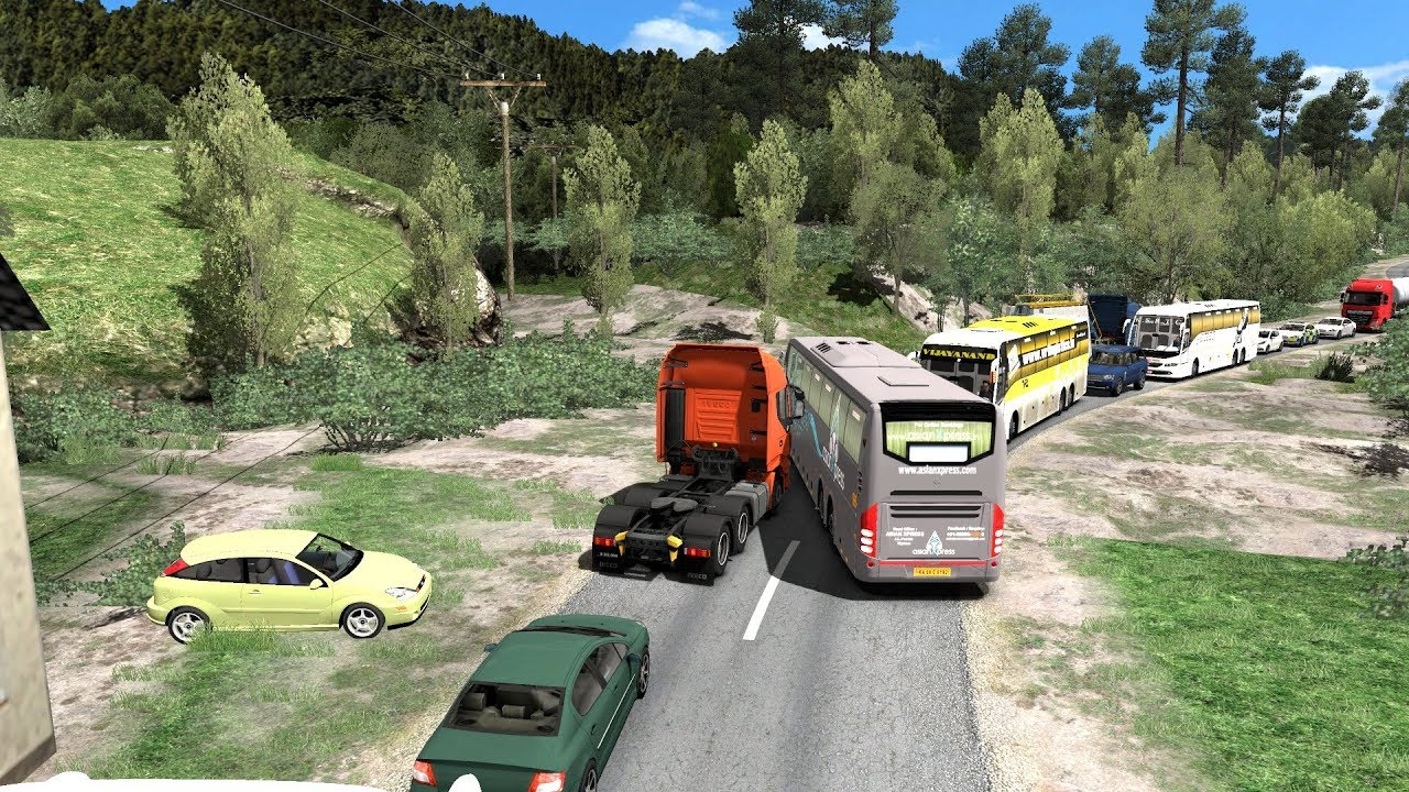 🔴 Bus Driver Loses His Mind   Volvo Bus Driving in Heavy Traffic   Euro  Truck Simulator 2 Bus Mod