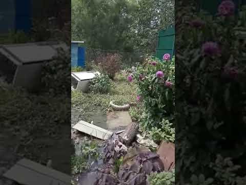 Владивосток,  пригород после ливневых дождей