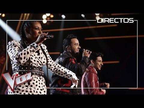 Luis Fonsi, Linda Rodrigo y Alex Palomo cantan 'Échame la culpa' | Directos | La Voz Antena 3 2019