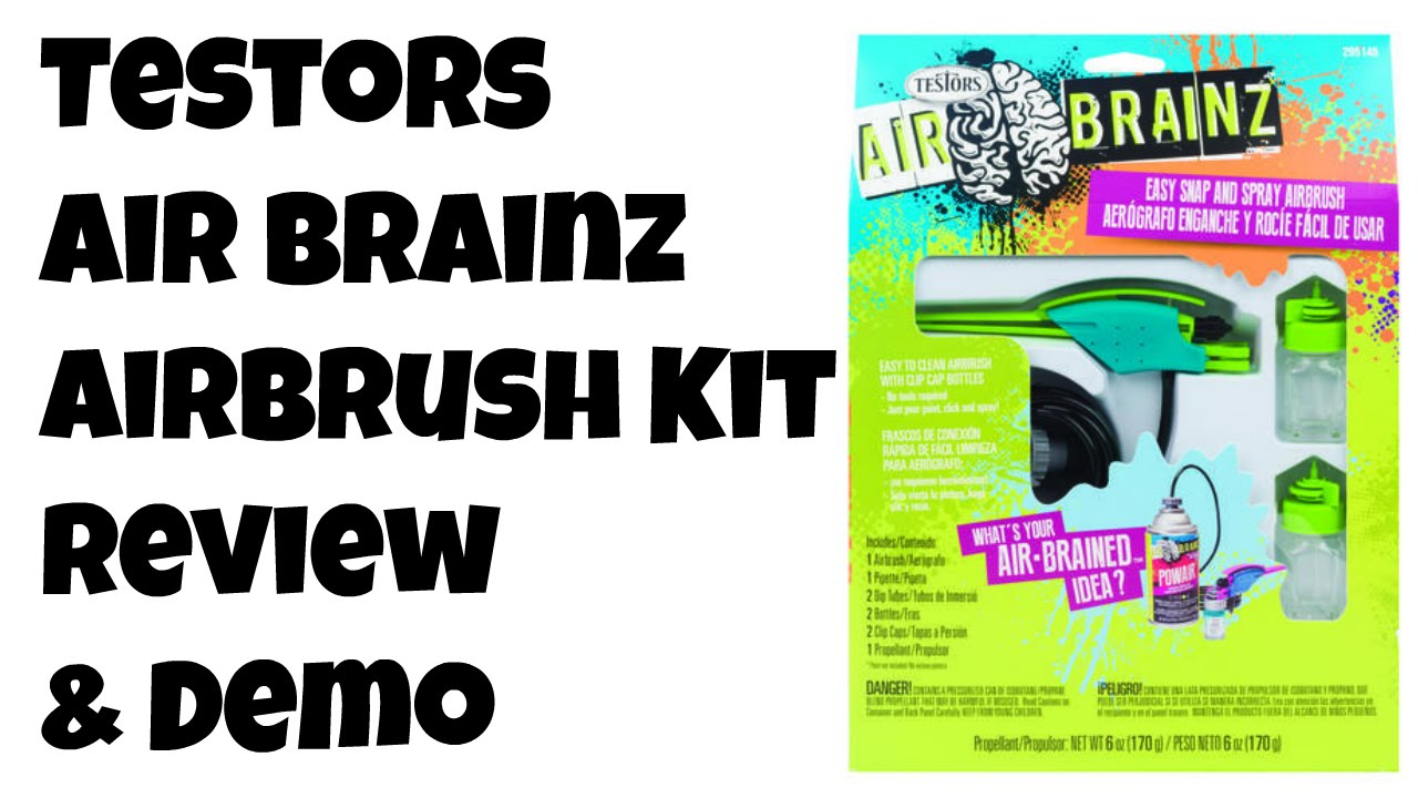 Testors AirBrainz Air Brush review and demo from