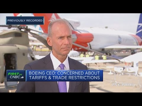 Boeing CEO: Concerned about tariffs and trade restrictions | Street Signs Europe