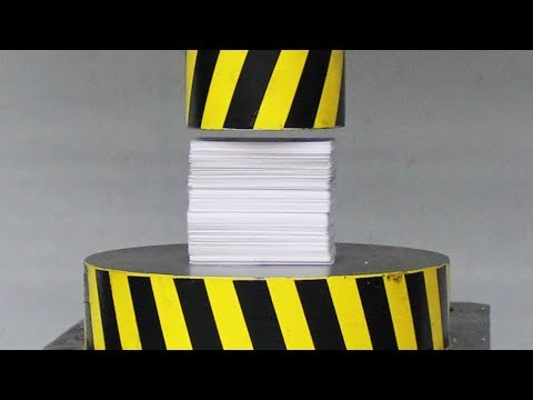 EXPERIMENT HYDRAULIC PRESS 100 TON vs 500 POKER Plastic Playing Cards