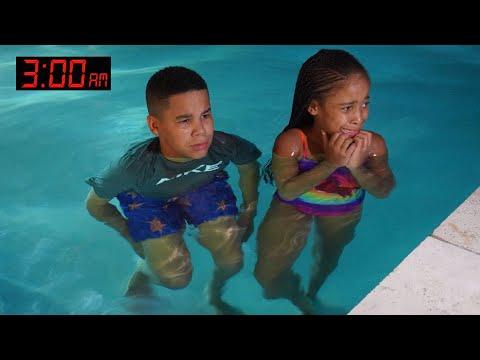 Kids GO SWIMMING at 3AM, Something SCARY Happens | FamousTubeFamily