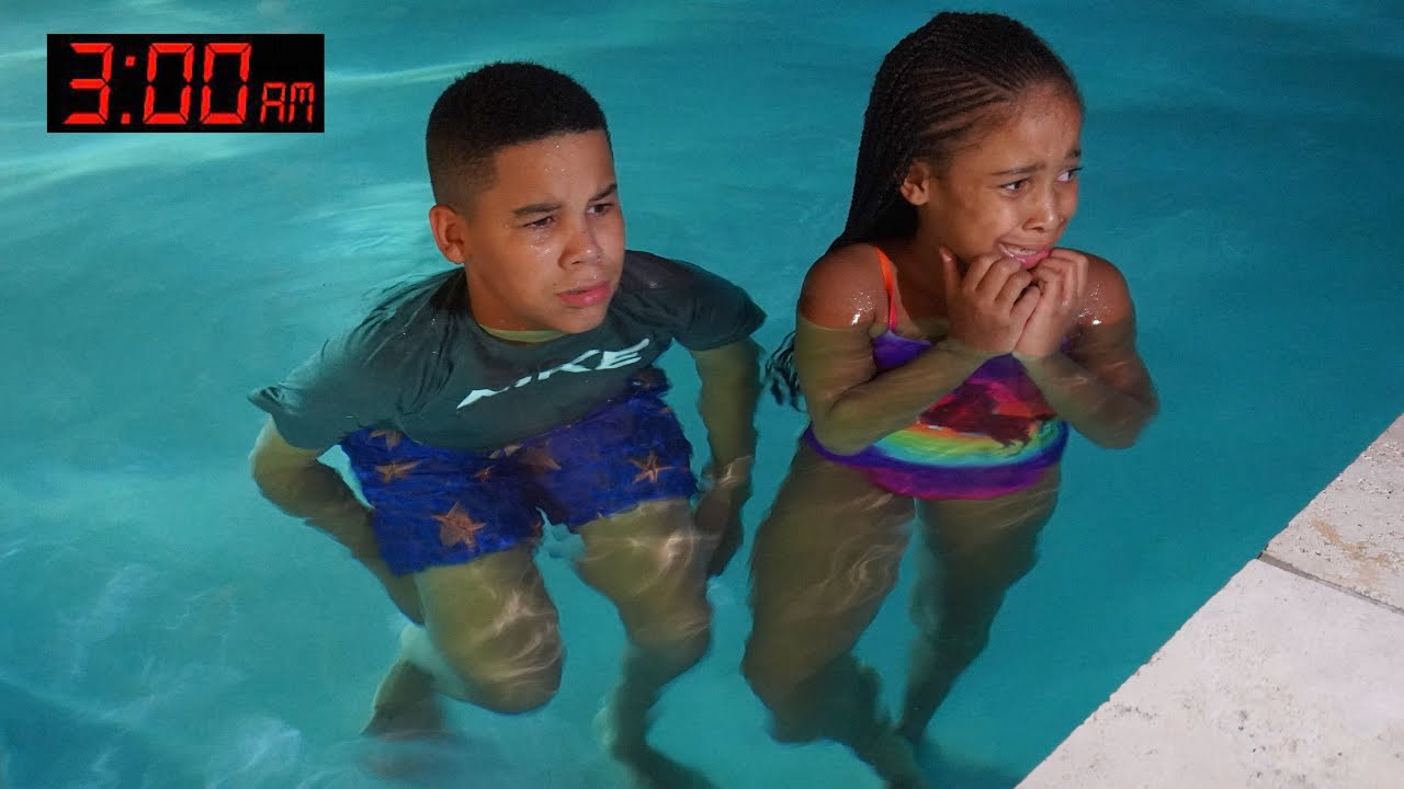 Download Kids GO SWIMMING at 3AM, Something SCARY Happens | FamousTubeFamily
