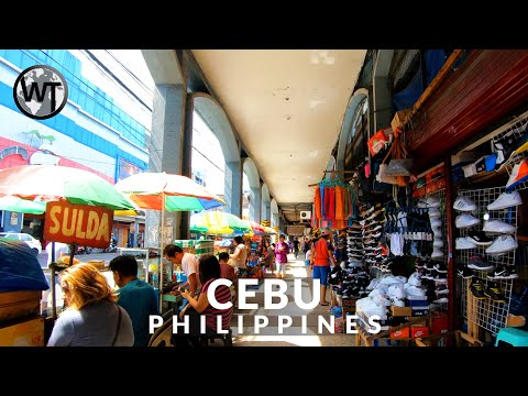 Downtown Cebu City Walking Tour〚𝟒𝐊〛🇵🇭 Philippines
