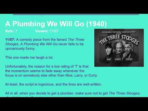 Movie Review: A Plumbing We Will Go (1940) [HD]