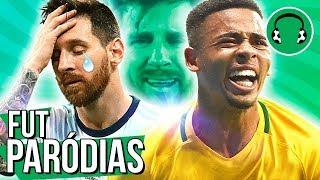 ♫ DEU RUIM PRO MESSI! BRASIL DETONA A ARGENTINA | Paródia Você Merece Cachê - Israel Novaes