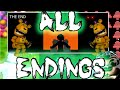 FNAF World ALL ENDINGS - Normal/BAD/GOOD/True ending/Clock/CHIPPER'S/Universe [Huge Spoiler]