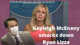 Kayleigh McEnany smacks down Ryan Lizza's question