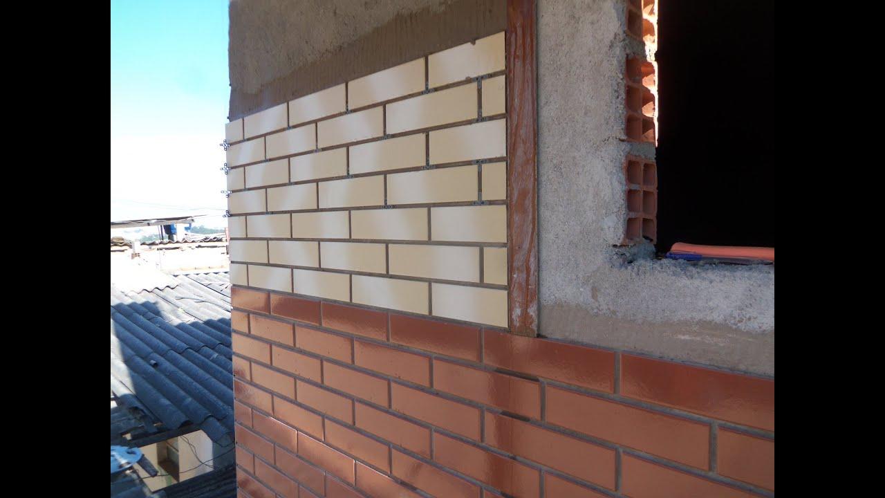 assentamento de cer mica na fachada da casa youtube