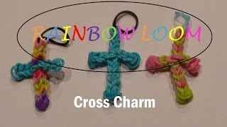 Rainbow Loom: How to Make A Cross Charm with one Loom
