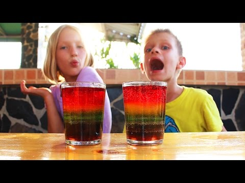 How to make RAINBOW SODA | COOL science EXPERIMENT with Sugar