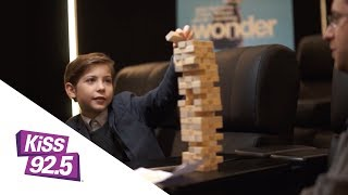 jacob tremblay plays jenga and talks wonder with damnit maurie
