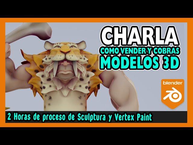 🤑 Como VENDER Modelos 3D en INTERNET 🤑  Escultura digital blender 2.9   Magnaomega