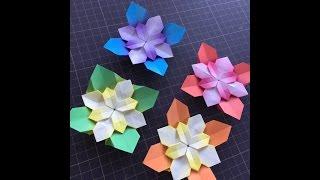 折り紙で作る紫陽花です。 こちらは「その1」に比べるとだいぶ難しいか...