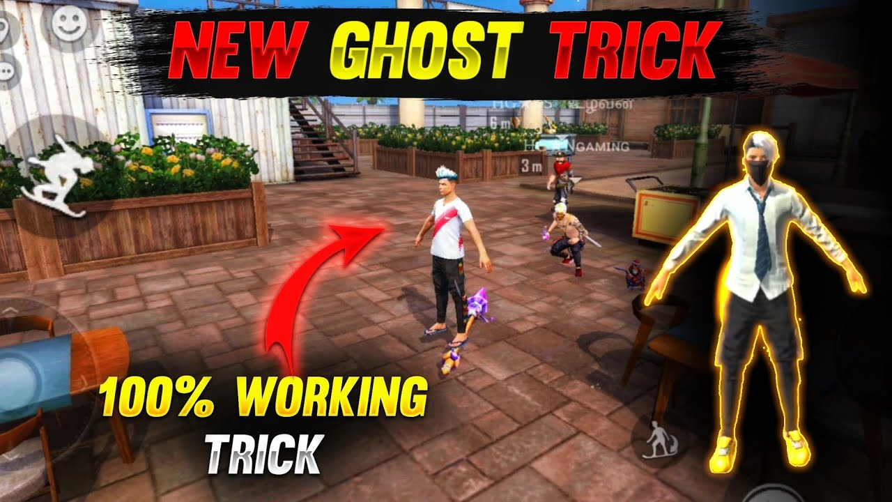 Top 5 New Unknown Tricks in free fire || Ghost Trick 👻 Working 100% in garena free fire