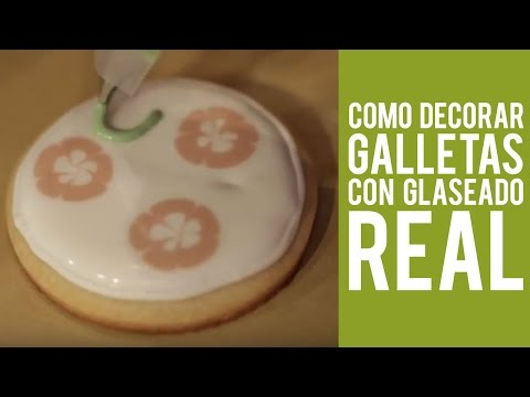 Como decorar galletas con glaseado real