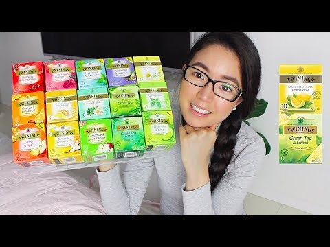 🍵🍋 TRYING ALL 17 FLAVOURS OF TWININGS HERBAL TEA! | Rosellalee🍊🌿