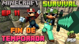 Minecraft PSP | Survival | Episodio 11 | Fin de temporada 1 | Loquendo | HD | luigi2498