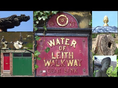 A walk along the Water of Leith walkway from Belford road to Dean terrace