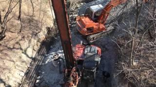 TES CAR CF6 _ (Foundation piling rig) Piles diam. 1000 mm / 15 m prof in rocky soil