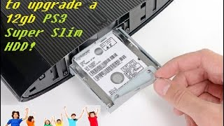 TUTORIAL (2016):  How to add a hard drive to a 12gb PS3 Super Slim!