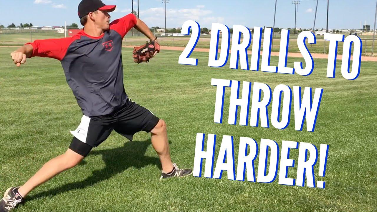 2 Drills To Throw Harder Baseball Throwing Drills Youtube