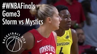 wnba finals game 3 seattle storm vs washington mystics full game highlights september 12 2018