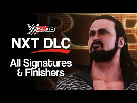 WWE 2K18: ALL NXT DLC Signatures & Finishing Moves