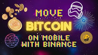 Crypto Tutorial: Move Bitcoin to Friends on Binance Exchange Mobile App SUPER EASY