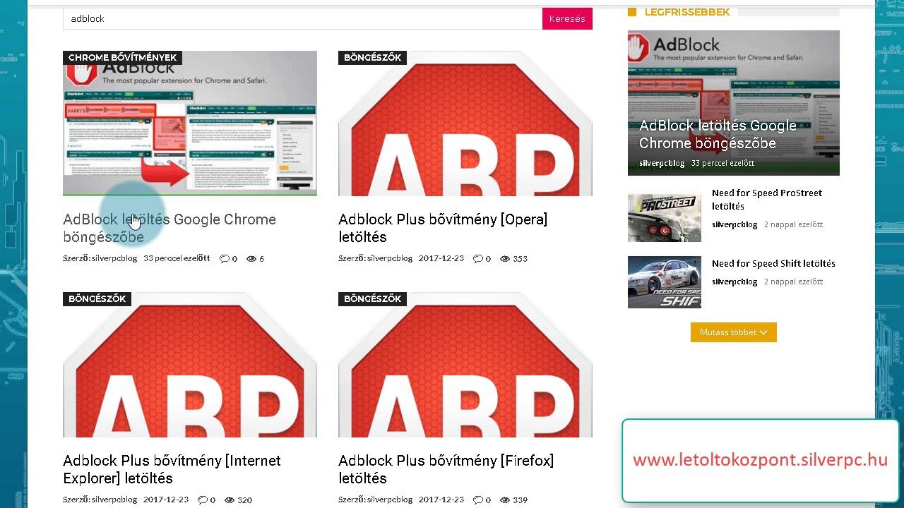 c15c46286f AdBlock letöltés Google Chrome böngészőbe - Töltsd le most, ingyen! -  SilverPC Letöltőközpont