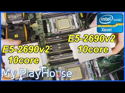 $520 - 40 vCore 3GHz - Two Intel Xeon E5-2690v2 - 766