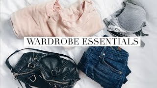 WARDROBE ESSENTIALS | WHAT TO SAVE & SPLURGE ON | rachspeed