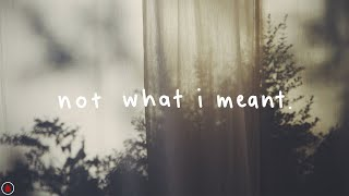 dodie (ft. Lewis Watson) - Not What I Meant (Lyrics)
