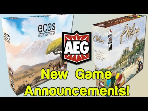 Ecos + Atelier - Two New Game Announcements From AEG