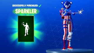 NEW! FIREWORKS TEAM LEADER SKIN and SPARKLER EMOTE! Fortnite Item Shop Update