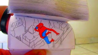 Spiderrman film tribute flipbook animation