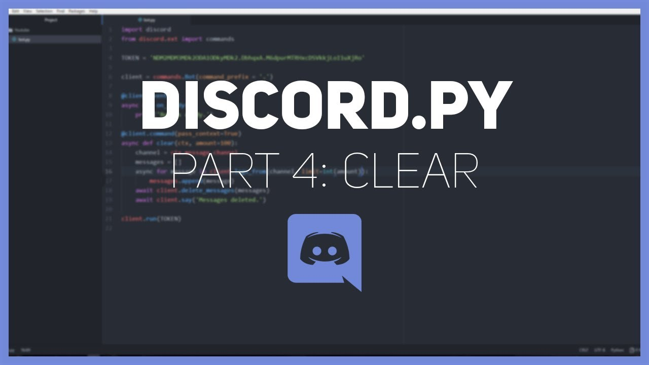 Discord py: Making a Discord bot (Part 4: Clear)