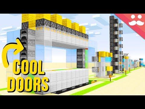"10 ""SIMPLE"" Piston Doors In Minecraft"