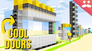 "10 ""SIMPLE"" Piston Doors in Minecraft"